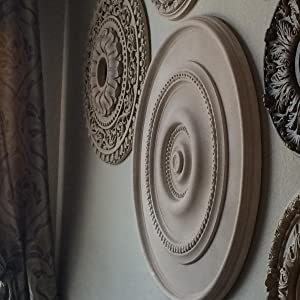 Ekena Millwork Cm39at 39 1 2 Od X 2 1 2 P Attica Ceiling Medallion Fits Canopies Up To 3 3 4