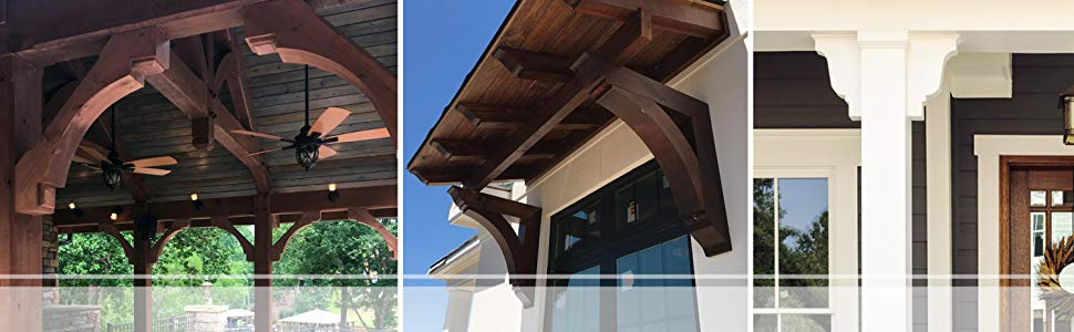 Douglas Fir Ekena Millwork RFT04X06X12NEB00SDF New Brighton Smooth Rafter Tail 3 1//2 Width by 6 Height by 12 Length